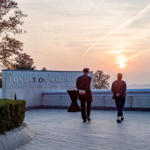 l'esplanade de la Fondation Martin Bodmer