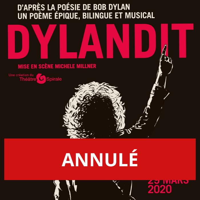 ANNULÉ – DYLANDIT, un spectacle théâtral et musical d'après la poésie de Bob Dylan