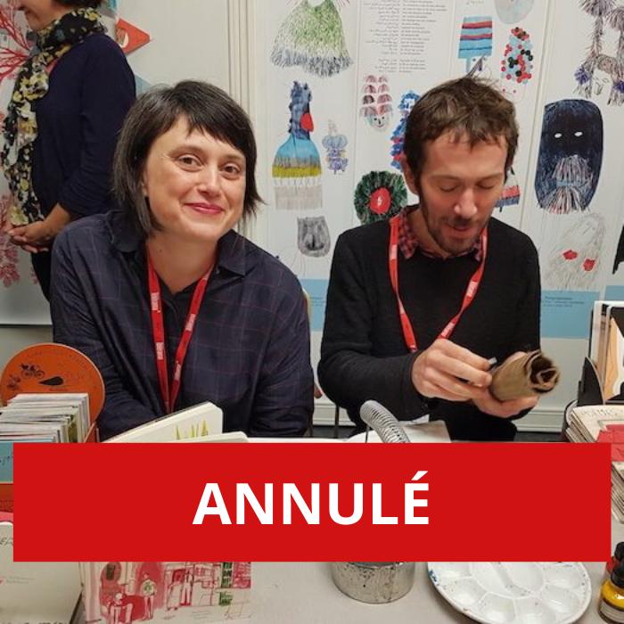 ANNULÉ – Rencontre avec les artistes pour la jeunesse Ramona Bădescu et Benoît Guillaume