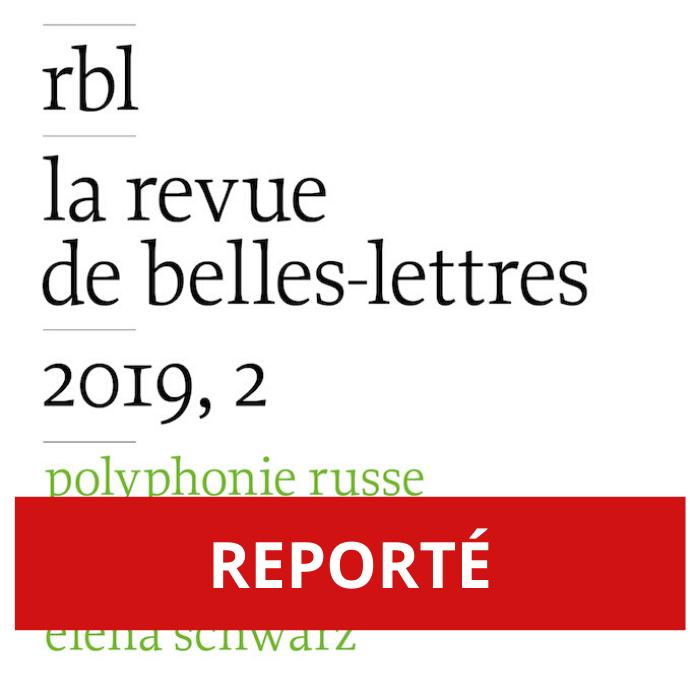 REPORTÉ – Polyphonie de la poésie russe contemporaine