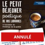 ANNULÉ - Petit-déjeuner poétique en compagnie de libraires genevois
