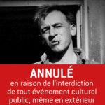 Balade poétique : Blaise Cendrars | ANNULÉ !