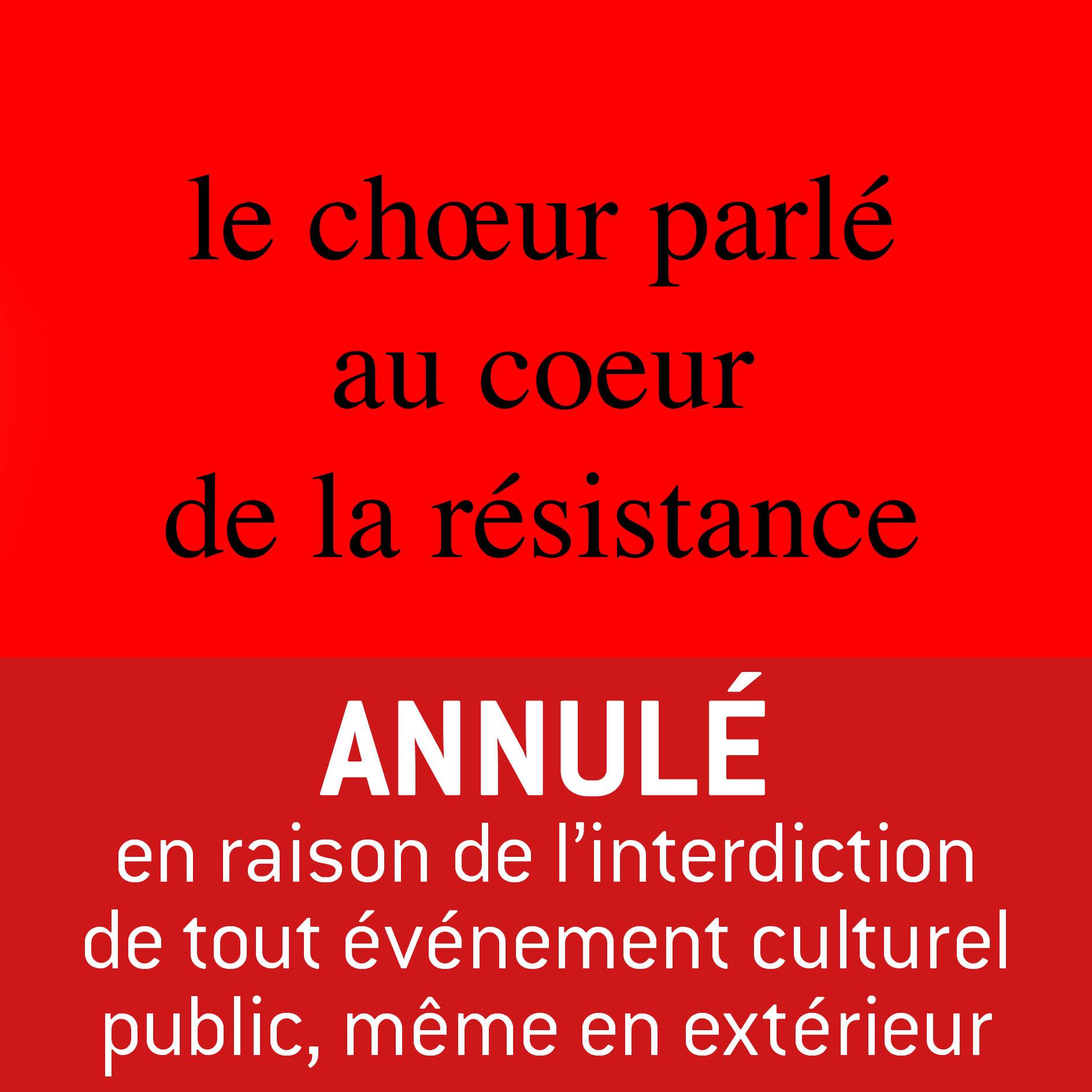 Au c(h)œur de la résistance | ANNULÉ !